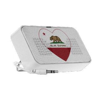california flag bel air heart mp3 speaker