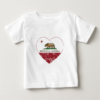 california flag beverly hills heart distressed baby T-Shirt
