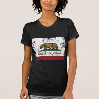 california flag big sur distressed T-Shirt