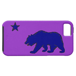 California flag blue purple bear iphone 5 case