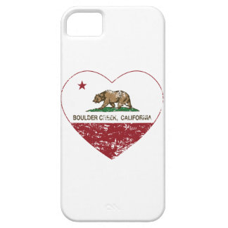 california flag boulder creek heart distressed case for the iPhone 5