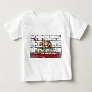 California Flag Brick Wall Grunge Baby T-Shirt