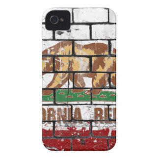 California Flag Brick Wall Grunge iPhone 4 Case-Mate Cases