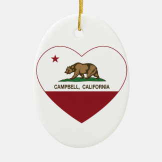 california flag campbell heart ceramic ornament