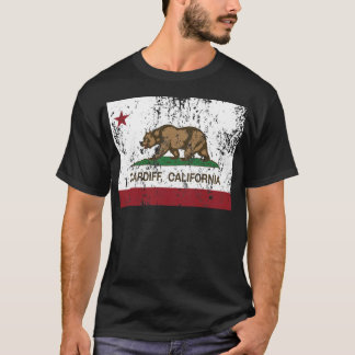 california flag cardiff distressed T-Shirt
