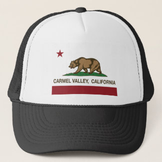 california flag carmel valley trucker hat