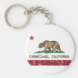 california flag carmichael distressed keychain