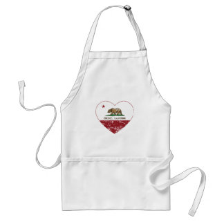 california flag chester heart distressed standard apron