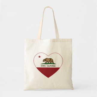 california flag chino heart tote bag