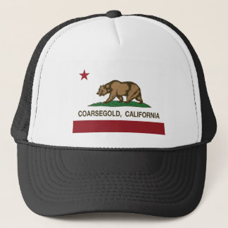 california flag coarsegold trucker hat