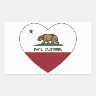california flag davis heart