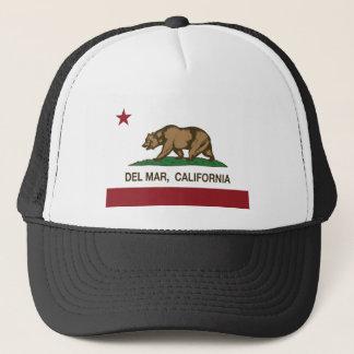california flag del mar trucker hat