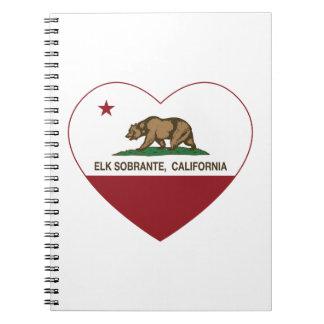 california flag elk sobrante heart spiral notebooks