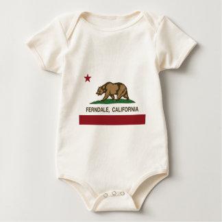 california flag ferndale baby bodysuit