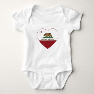 california flag ferndale heart baby bodysuit