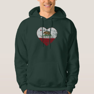 california flag ferndale heart distressed hoodie