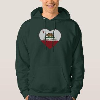 california flag ferndale heart hoodie