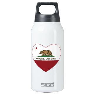 california flag ferndale heart insulated water bottle