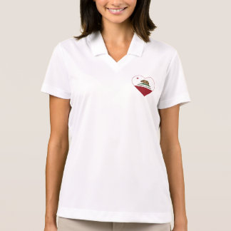 california flag ferndale heart polo shirt