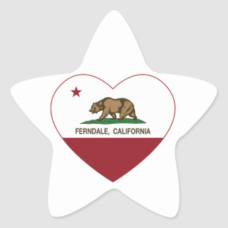california flag ferndale heart star sticker
