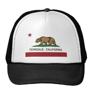 california flag ferndale trucker hat