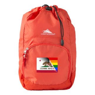 California Flag Gay Pride Rainbow Flag Backpack