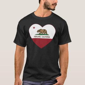 california flag highland heart T-Shirt