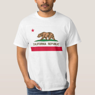 California Flag image for Men's-T-Shirt-White T Shirts