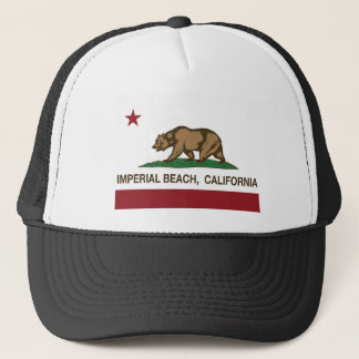california flag imperial beach trucker hat