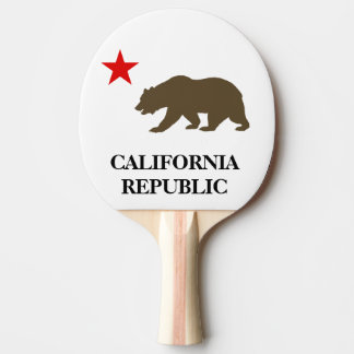 California Flag Inspired Ping Pong Paddle