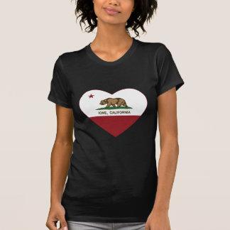 california flag ione heart T-Shirt