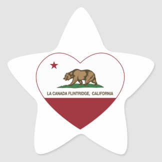 california flag la canada flintridge heart star sticker