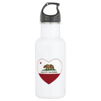 california flag lake city heart 532 ml water bottle