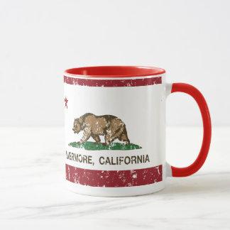 california flag livermore distressed mug