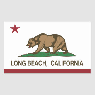 california flag long beach sticker