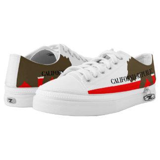 California Flag Low Top Stylized Zipz Sneakers