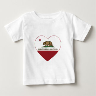 california flag manhattan beach heart baby T-Shirt
