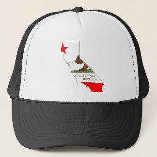 California Flag Map Trucker Hat