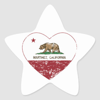 california flag martinez heart distressed star sticker