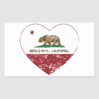 california flag menlo park heart distressed