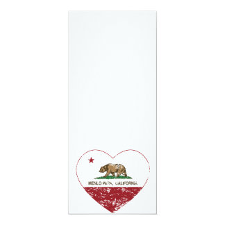california flag menlo park heart distressed card