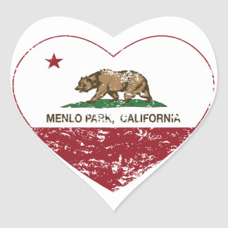 california flag menlo park heart distressed heart sticker