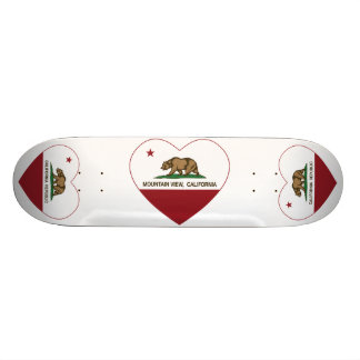 california flag mountain view heart skate decks