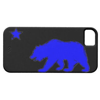 California flag neon blue bear iphone 5 case