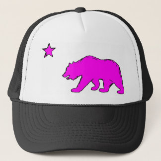 California flag neon pink bear hat