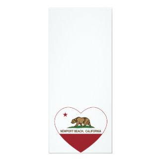 california flag newport beach heart card