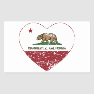 california flag orangevale heart distressed sticker
