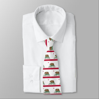 California flag pattern neck tie gift idea for him
