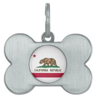 California Flag Pet ID Tag