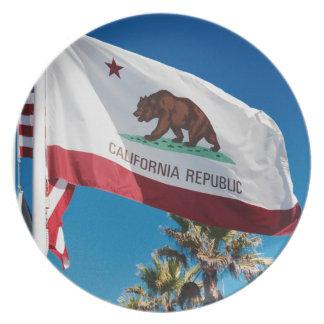 California Flag Plate